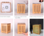 Load image into Gallery viewer, Bamboo Box Diffuser 200ml