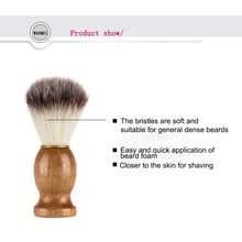 Load image into Gallery viewer, Badger Hair Men's Shaving Beard Brush Salon Men Facial Beard Cleaning Appliance Shave Tool Razor Brush With Wood Handle For Men