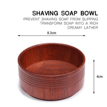 Load image into Gallery viewer, Portable Beard Cleaning Men Cup Bowl Lightweight Brush Anti-adhering Mug Face Care Eco-friendly Shaving Soap Oak Wood
