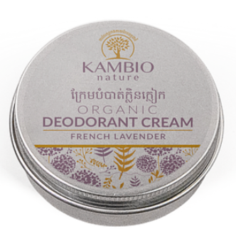 Kambio Nature All Natural Lavender Organic Essential Oil Deodorant Cream