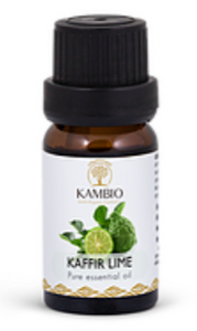 Kambio Kaffir Lime Leaf all natural Organic Essential Oil  Bottle