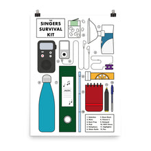 Load image into Gallery viewer, The Singers Survival Kit - Poster