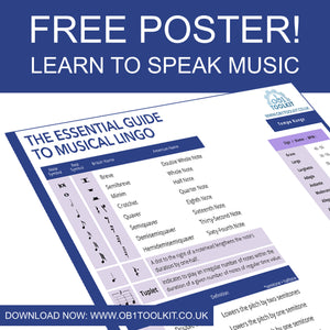 The Essential Guide To Musical Lingo - FREE Poster Download