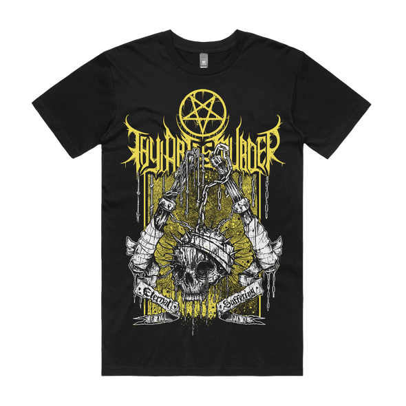 Thy Art Is Murder band merch warfare eternal suffering tee killing human warfare target deathcore death metal