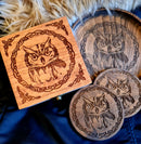 Owl small Trinket/Dice Bowl, Coaster and Box