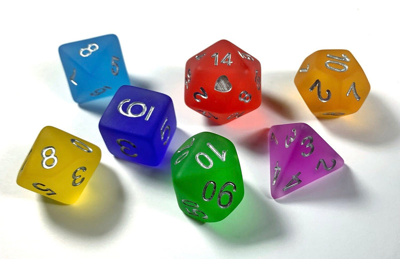 Heart Beat Dice - Frosted Rainbow Pride Set