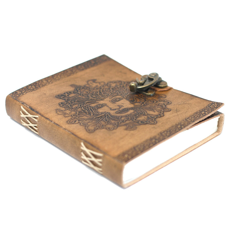 Green Lady Embossed Journal with Lock