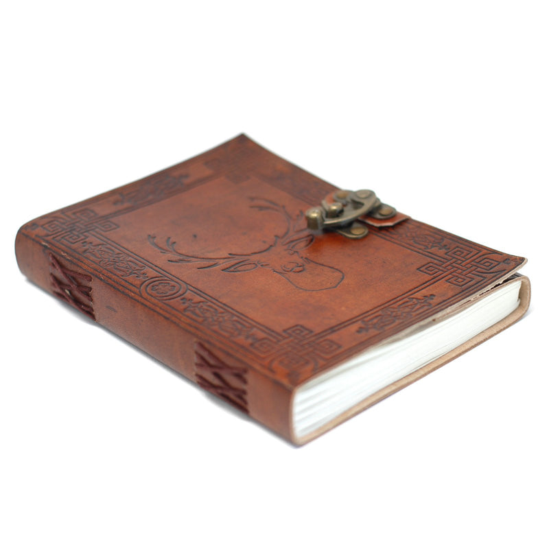 Stag Embossed Journal with Lock