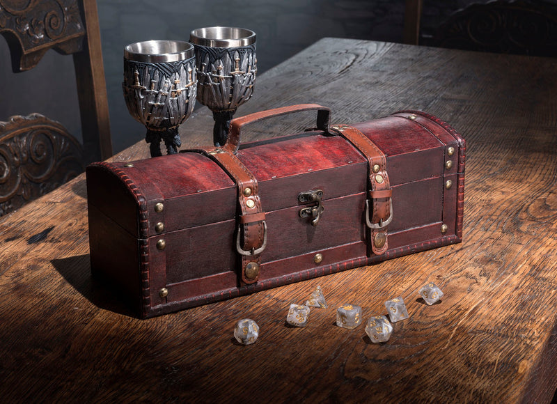Treasure Dice Chest and Rolling Tray