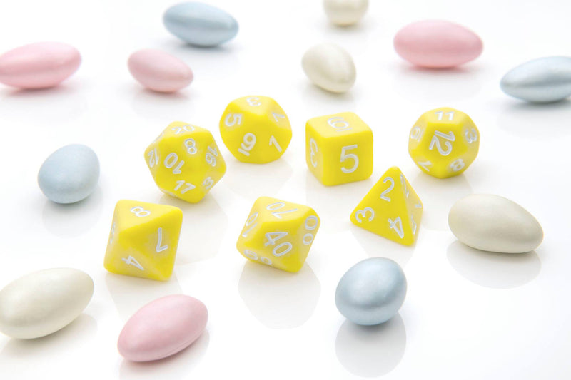 Yellow Pastel Pop Dice