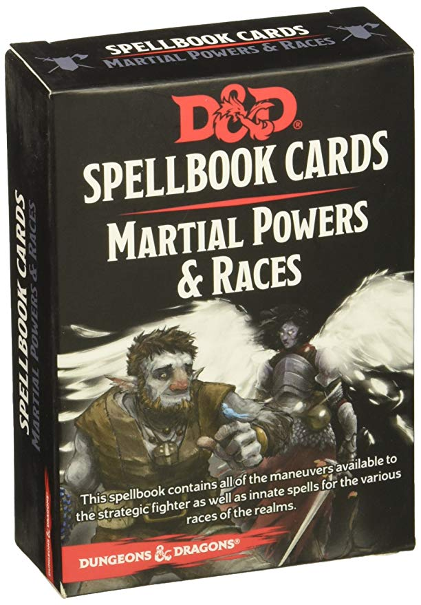 D&D Spell Cards Martial Powers & Races