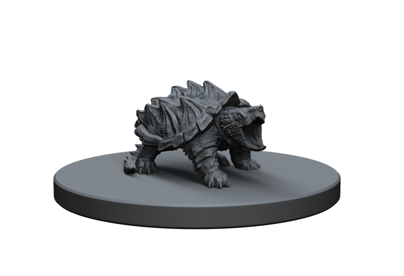 Snapping Aligator Turtle STL Miniature File
