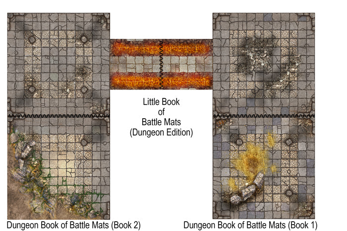 The Dungeon Books of Battle Mats - 2 Book Set
