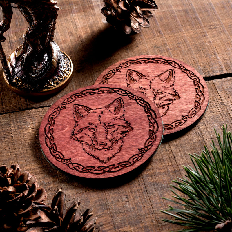 Fox small Trinket/Dice Bowl, Coaster and Box