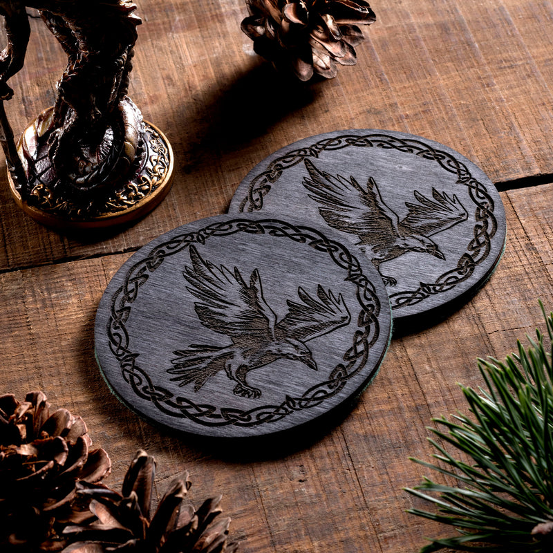 Raven/Crow small Trinket/Dice Bowl, Coaster and Box