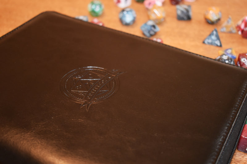 Zippered Faux Leather Dice Holder
