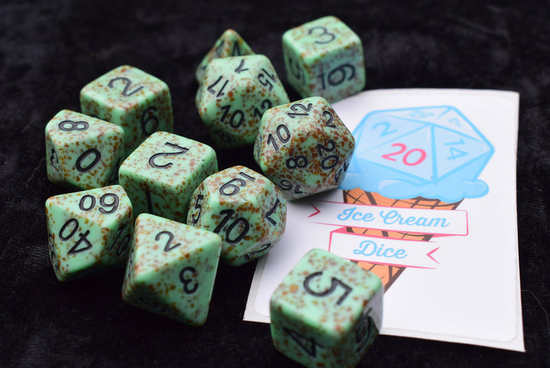 Ice Cream Dice - Mint Chocolate Crit