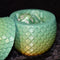 Dragon Egg Dice Box - Green Tones  - Scales