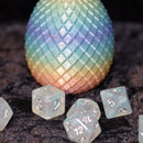 Dragon Egg Dice Box - Pastel Rainbow - Diamond