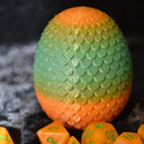 Dragon Egg Dice Box - Pumpkin  - Scales