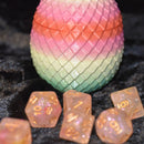 Dragon Egg Dice Box - Red/Pink - Diamond