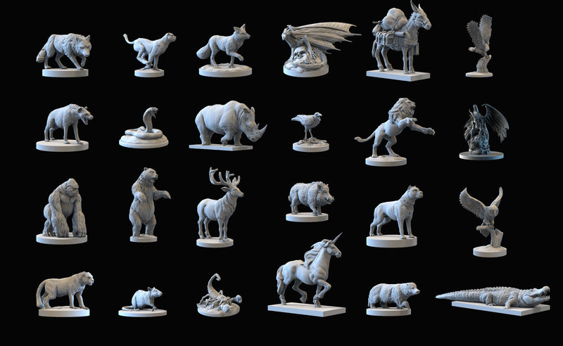 Animal Minatures Core Box - 24 Miniatures