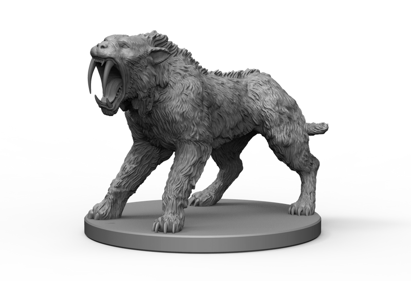 Sabre Tooth Tiger STL Miniature File