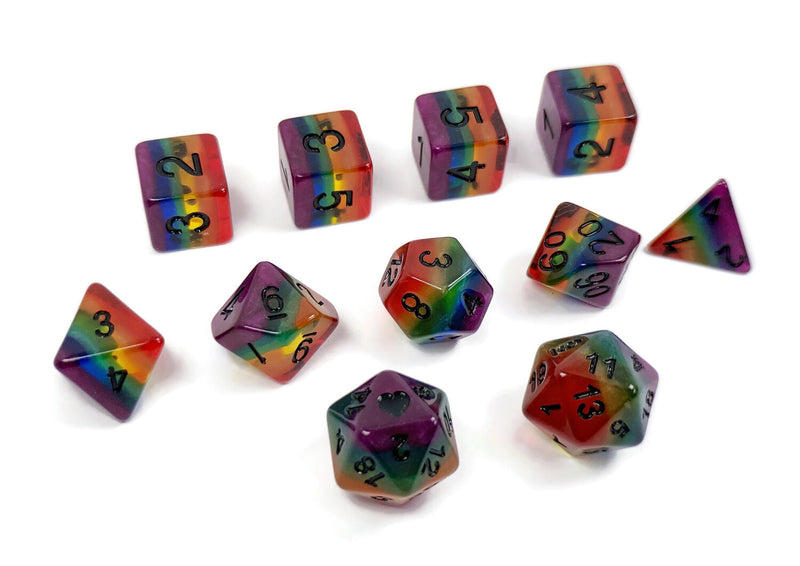Heart Beat Dice - Victory over AIDS Rainbow Pride