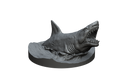 Great White Shark and Fins STL Miniature File