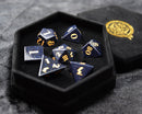 Blue Goldstone Gemstone Dice