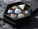 Rainbow Crystal Semi-Precious  Dice Set