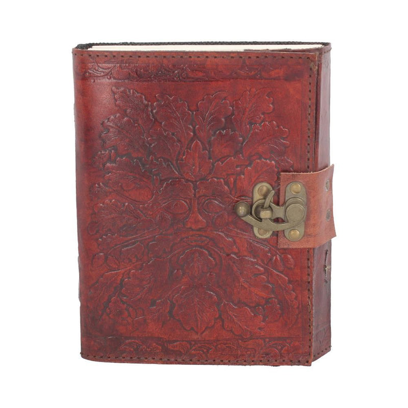 Greenman Leather Embossed Journal with Lock