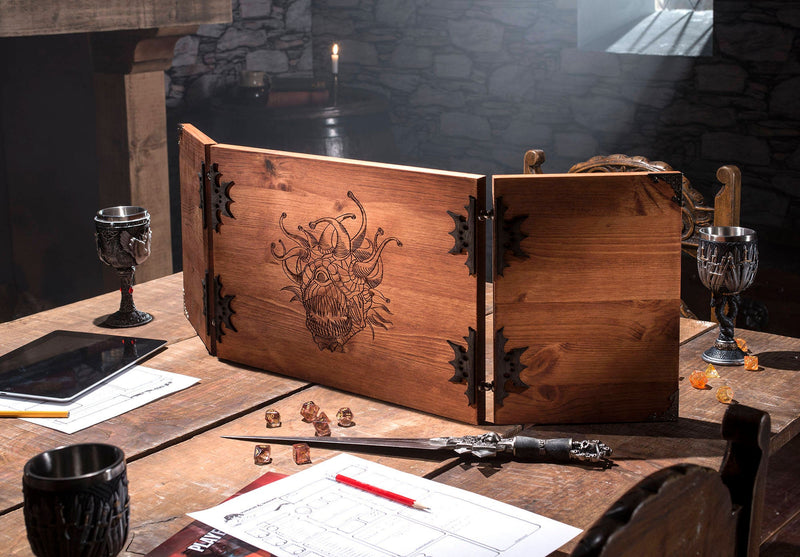 Beholder Wooden Dungeon Master Screen