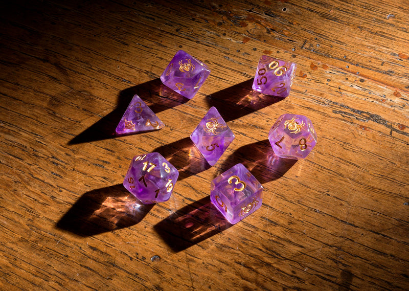 Dice RPG Set of 7 'Spirit Of' Spider Dice