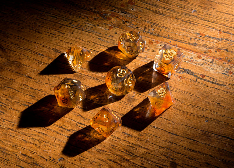 Dice RPG Set of 7 'Spirit Of' Tiger Dice