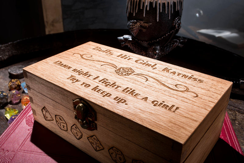 Girl Power Large Dice Box