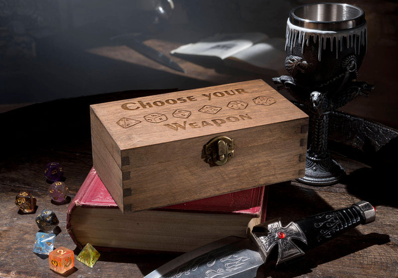 Choose Your Weapon & Dice Large Dice Box.