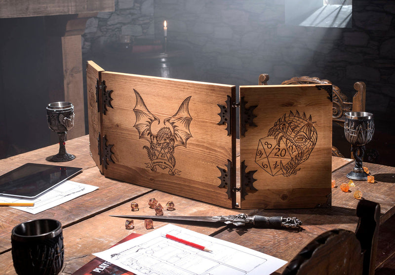 Dragon Wooden Game Master Screen
