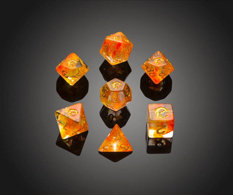 Dice RPG Set of 7 'Spirit Of' Pheonix Dice