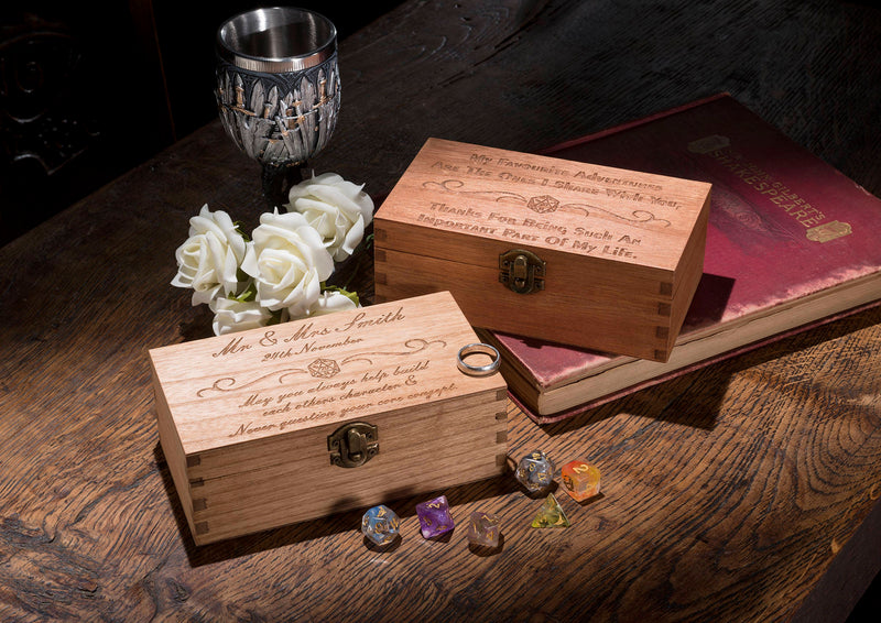 Large Wedding Personalised Dice Box