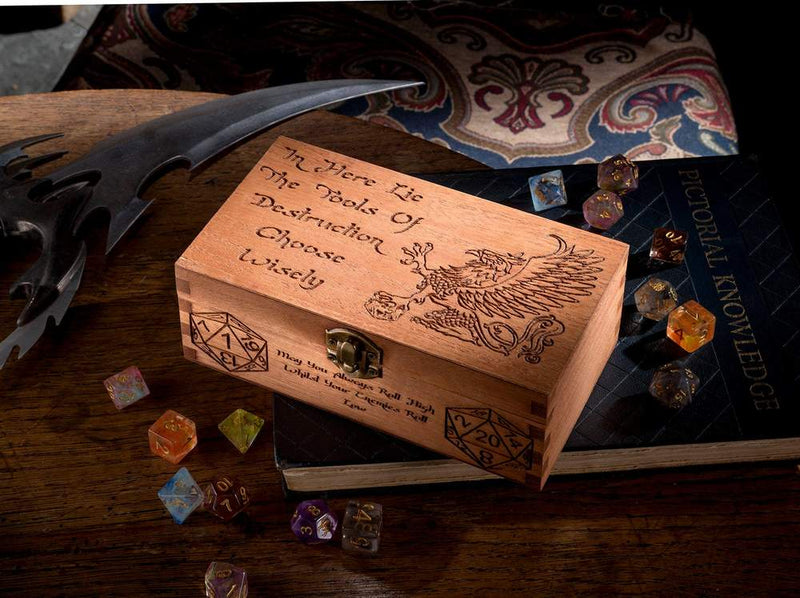 Griffin Wooden Dice Box
