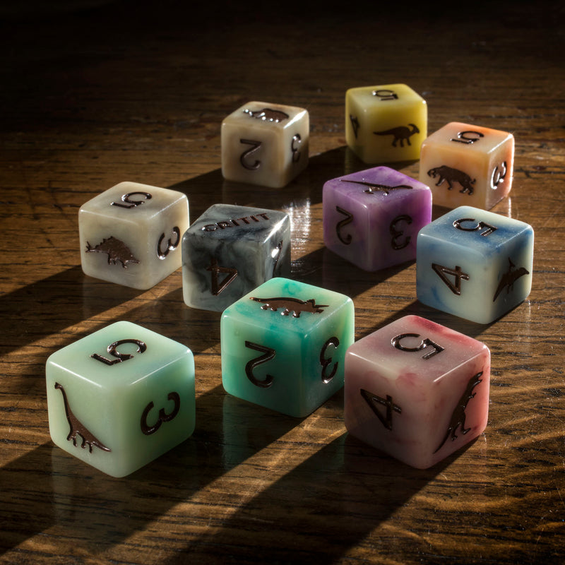 Dice D6 Set of 10 'Spirit Of' Extinction'
