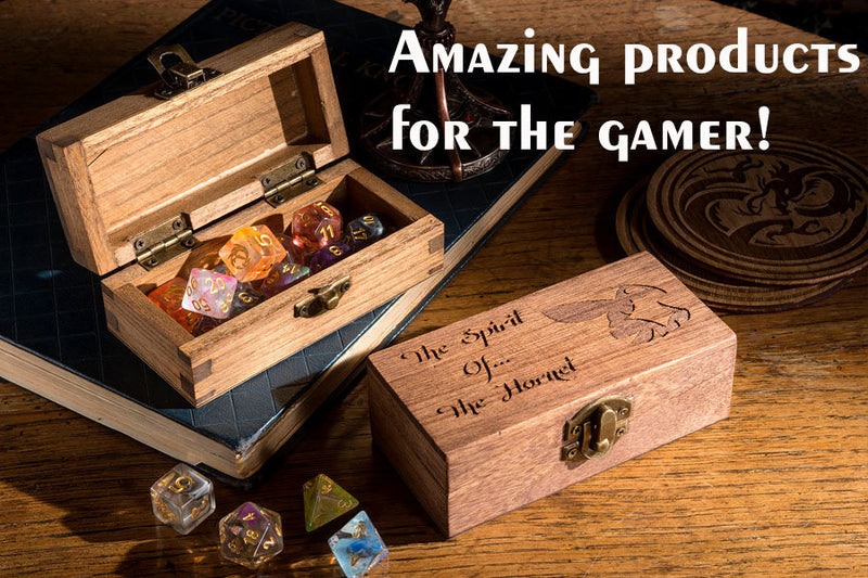 Dice RPG Set of 7 'Spirit Of' Hummingbird