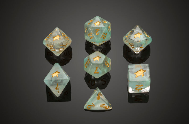 Dice RPG Set of 7 'Spirit Of' Turtle Dice