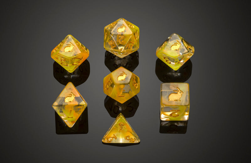 Dice RPG Set of 7 'Spirit Of' Rabbit Dice