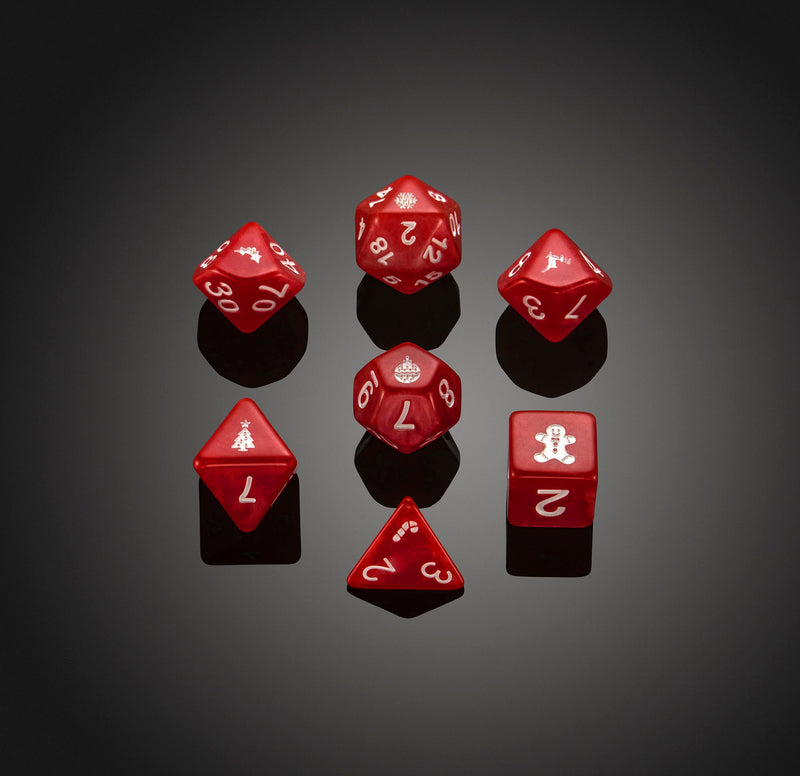 Dice RPG Set of 7 'Spirit Of' Christmas Dice
