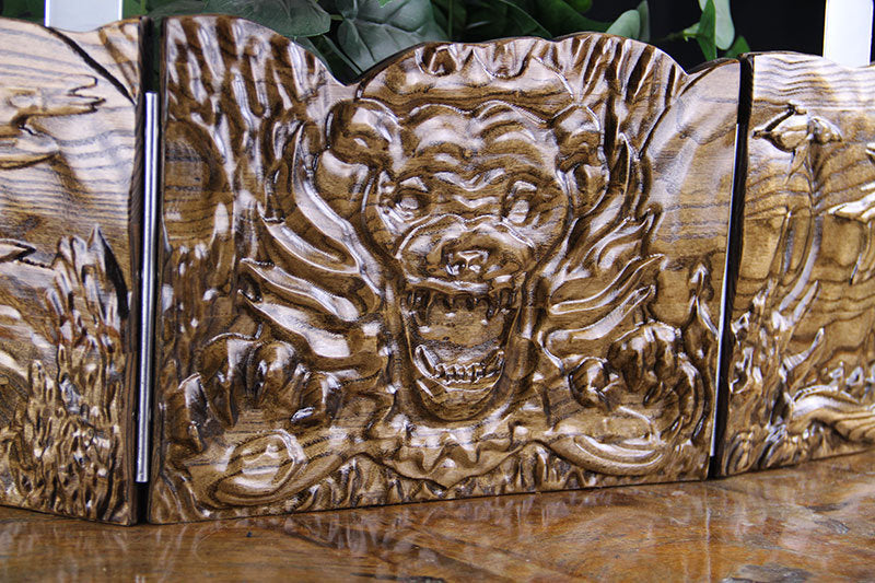 Animal Dog might Hardwood Wooden Dungeon Master Screen