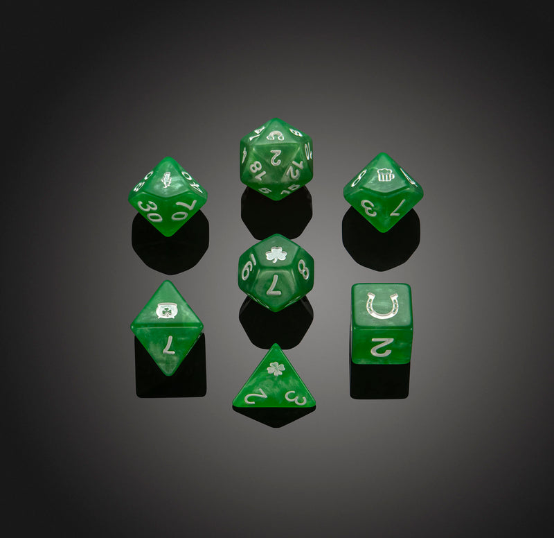 Dice RPG Set of 7 'Spirit Of'  St.Patricks Dice