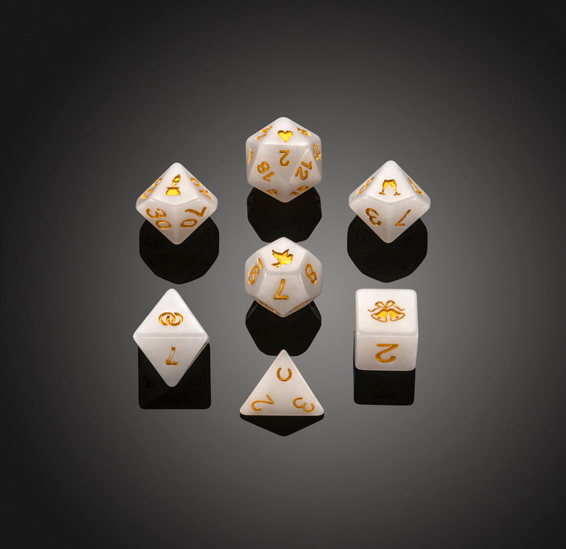 Dice RPG Set of 7 'Spirit Of' Wedding Dice