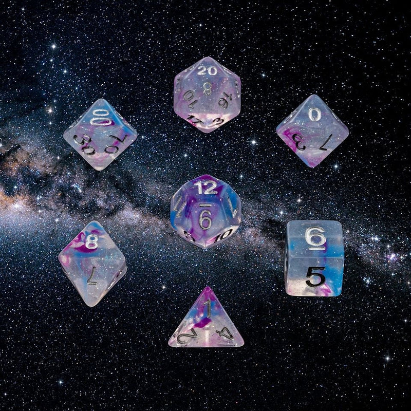 Dice RPG Set of 7 Milky Way 'Spirit Of' the Galaxy